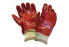 SCAN GLOVE PVC GLOVE KNITTED WRIST SCAGLOPVCKW